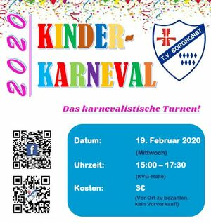 Kinderkarneval 2020 am 19. Februar