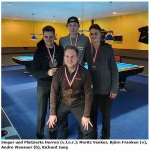 Billard: Moritz Venker qualifiziert für Westfalenmeisterschaft
