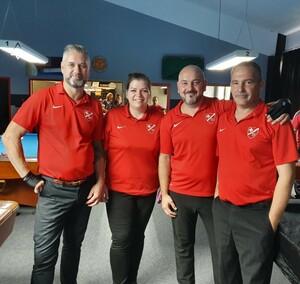 <p>Billard: Team 1 Saison 2019 2020 - Kasper, Süßenguth, Jablonski, Schaerf,</p>
